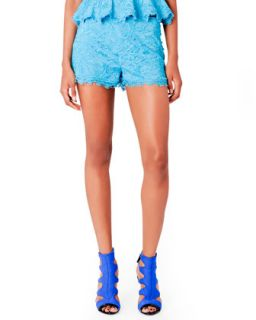 Womens Lace Shorts, Turquoise   Emilio Pucci   Turquoise (42/8)