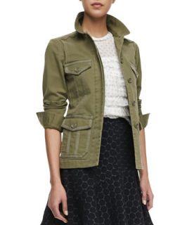 Womens Zeta Twill Workwear Utility Jacket   MARC by Marc Jacobs   Dusky green