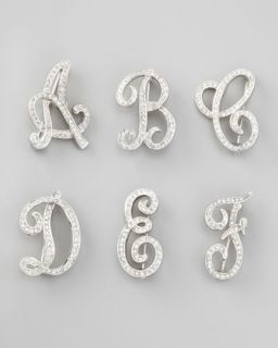 Rhinestone Initial Pin   Kenneth Jay Lane   Q