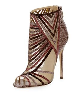 Kara Peep Toe Snake Ankle Bootie, Multicolor   Jimmy Choo   Multi colors (40.