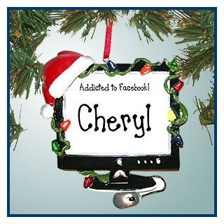 Personalized Christmas Ornaments   Christmas Computer   Personalized with Perfect Handwriting   Decorative Hanging Ornaments