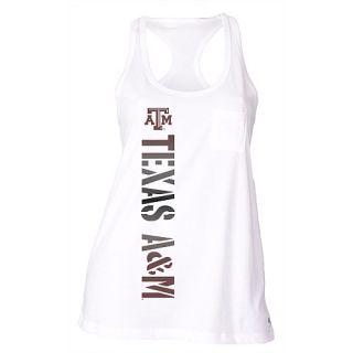 SOFFE Womens Texas A&M Aggies Pocket Racerback Tank Top   Size: L, White