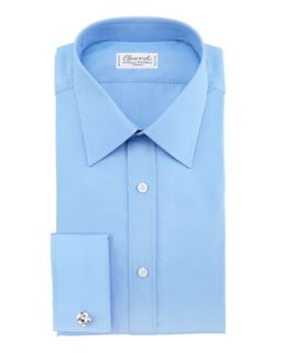 Mens Poplin French Cuff Shirt   Charvet   Blue (39/15.5R)