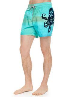 Mens Mua Octopus Emblem Swim Trunks   Vilebrequin   Blue (XX LARGE)