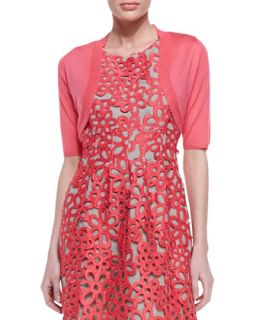 Womens Half Sleeve Shrug, Peony Pink   Lela Rose   Peony (X SMALL)