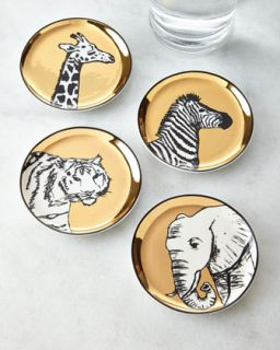 Animalia Coaster Set   Jonathan Adler   Gold