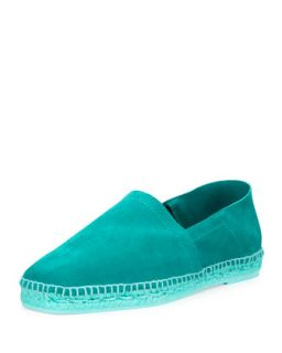 Mens Barnes Suede Slip On Espadrille   Tom Ford   Turquoise (8T/8.5D)