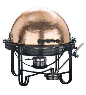 American Metalcraft MESA91C Round Mesa Stainless Steel Roll Top Chafer with Hammered Copper Cover, 6 Quart: Chafing Dishes: Kitchen & Dining