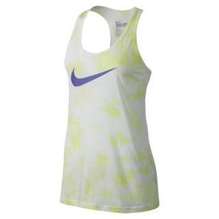 Nike Marble Wash Swoosh Racerback Womens Tank Top   Volt