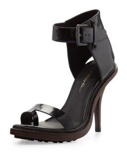 Isabela Ankle Wrap Runway Sandal, Black   3.1 Phillip Lim   Black (37.5B/7.5B)