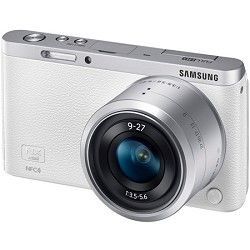 Samsung NX Mini Mirrorless Digital Camera with 9 27mm Lens and Flash   White