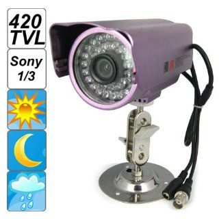 SecurityIng� 420 TV Lines 1/3 Inch Sony CCD Weatherproof Surveillance CCTV Camera, 36 IR Infrared LEDs, Day Color Vision / Night Black White Vision, for Indoor / Outdoor / Home / Business Surveillance  Bullet Cameras  Camera & Photo