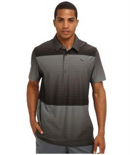 PUMA Golf Ombre Stripe Polo Mens Short Sleeve Pullover (Gray)