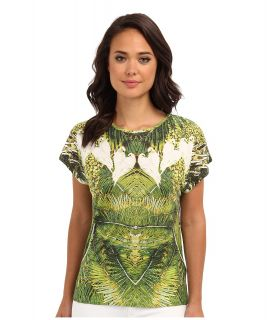 Ted Baker Dacce Tropical Doves Print Tee Womens T Shirt (Olive)