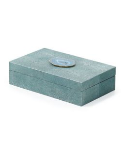 Large Shagreen Box   Regina Andrew Design   Turquoise (LARGE )