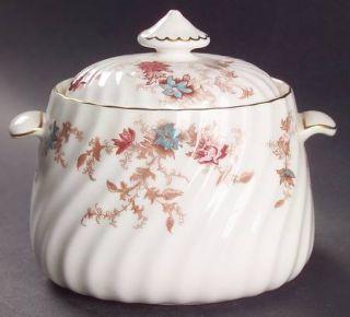 Minton Ancestral (Wreath Backstamp) Sugar Bowl & Lid, Fine China Dinnerware   Fi