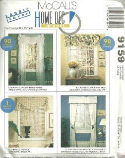 Swag, Crown Valance, Triangle Valance And Pleat Valance McCall's Home Dec in A Sec Sewing Pattern 9159