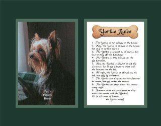 Dog Rules Yorkie Wall Decor Pet Saying Dog Saying   Decorative Plaques