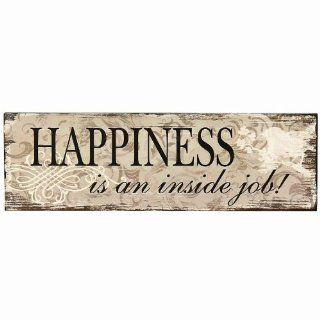 ADECO SP0113 Decorative Wood Wall Sign Plaque   Home Art Decor with Inspirational Saying HAPPINESS, Great Gift   Wall Decor Stickers