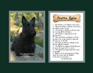 Dog Rules Scottie Wall Decor Pet Saying Dog Saying   Decorative Plaques