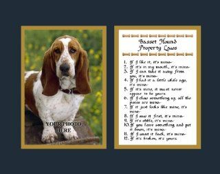 Basset Hound Property Laws Wall Decor Pet Dog Saying Gift   Decorative Plaques