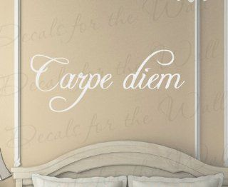 Carpe Diem   Inspirational Motivational Inspiring Seize the Day   Vinyl Quote Saying, Wall Decal, Lettering Decoration, Sticker Decor Art Mural   Home Decor Product