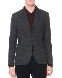 Mens Small Houndstooth Soft Jacket, Gray/Black   Lanvin   Grey/Black (50)