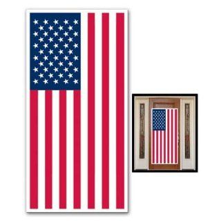 "USA FLAG   DOOR COVER   Banner   PATRIOTIC Party DECORATIONS  DECOR  4th of JULY  Indoor OUTDOOR 30"" x 60""   BARBECUE   Cookout PARTIES: Health & Personal Care"