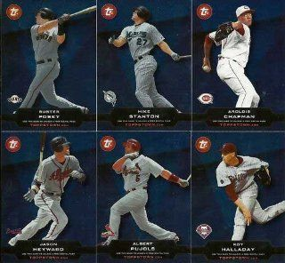2011 Topps Baseball Topps Town Complete Mint 50 Card Unused Code Insert Set Including Roy Halladay, Joe Mauer, Jose Reyes, Josh Hamilton, Chase Utley, David Wright, Ichiro Suzuki, Evan Longoria, Ryan Howard, David Price, Robinson Cano, Buster Posey, Albert