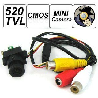 SecurityIng   520 TV Lines MC495 1/3 Inch CMOS Image Sensor Mini Covert Color CCTV Surveillance Security Camera, 3.6mm F2.0/90 Degrees View Angle Lens, Support Video and Audio Output, for Hidden Audio & Video Surveillance Security Camera : Spy Cameras