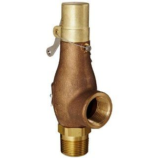 "Kingston 710D66S1L 150 Safety Valve, D Orifice, Brass Body & Trim, 1"" Inlet x 1"" Outlet, Silicone Disc, Open Lever, ASME Sec. VIII Steam, 15 250 psi Pressure Range, 150 psi Set Pressure Industrial Relief Valves Industrial & Scientific"
