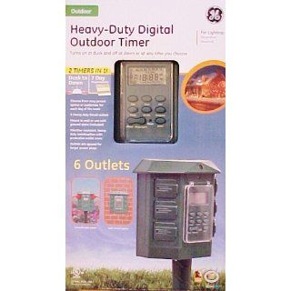 GE 15144 Heavy Duty Digital Outdoor Timer   Wall Timer Switches