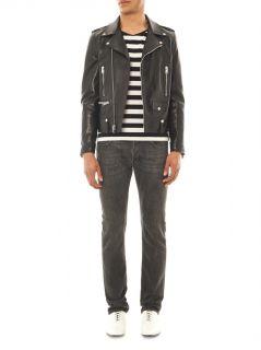 Leather motorcycle jacket  Saint Laurent