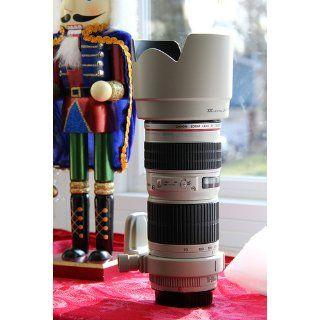 JJC Professional LH74T White Tulip Flower Lens Hood For canon 70 200mm F 4 Lens Replaces canon ET 74 ET74  Camera Lens Hoods  Camera & Photo