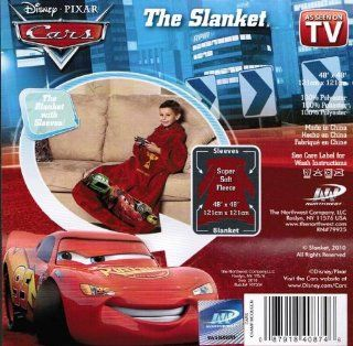 The Slanket Disney Pixar Cars Champ McQueen (AS SEEN ON TV), Kids Throw Blanket with Sleeves   Childrens Blankets