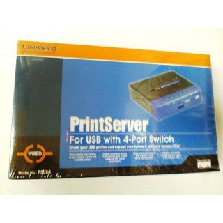 Cisco Linksys PSUS4 PrintServer for USB with 4 Port Switch: Electronics