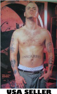 Phil Anselmo of Pantera shirtless POSTER 21 X 31 bandmate of Dimebag Darrell (sent FROM USA in PVC pipe) : Prints : Everything Else