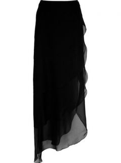 Chanel Vintage Ruffle Maxi Skirt
