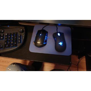 Black E 3lue E Blue Mazer 1600 DPI LED USB Wired Optical Gaming Mouse: Computers & Accessories