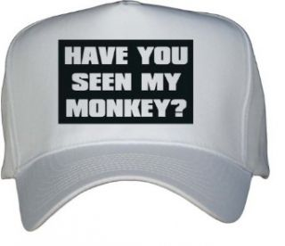 HAVE YOU SEEN MY MONKEY? White Hat / Baseball Cap: Clothing
