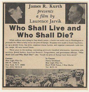 1980 Who Shall Live and Who Shall Die Movie Trade Print Ad (Movie Memorabilia) (48823)