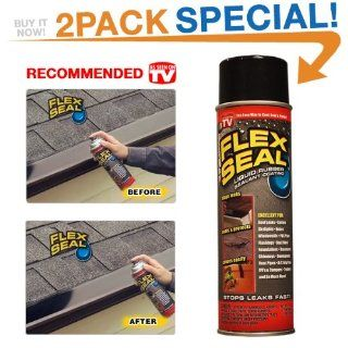 Flex Seal 10 Ounce As Seen on TV Liquid Rubber Sealant in a Can, Black (2 Pack Special)   Deck Waterproof Sealants