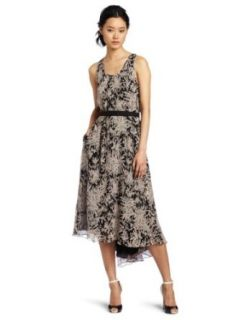 HALSTON HERITAGE Women's Day Dress, Black/Chalk, Medium at  Women�s Clothing store