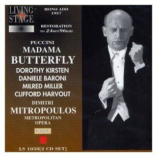 Giacomo Puccini: Madama Butterfly [Studio Recording for Opera Record Club; January 1957; Dorothy Kirsten, Daniele Barioni, Clifford Harvuot, Mildred Miller, Alessio de Paolis, Calvin Marsh; Dimitri Mitropoulos (Slightly Abridged) AND Chopin/Lewitzky: Chopi