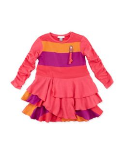 Striped Tiered Ruffle Dress, 12 24 Months