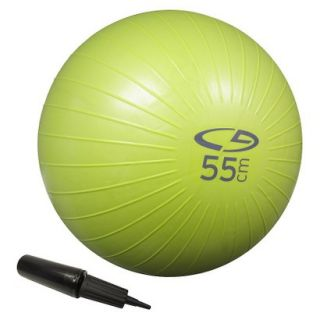 C9 Core Fitness Ball   AB   Basic   55 cm w/H. Pump   Lime