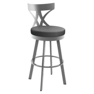 Barstool: Amisco Washington Counter Stool   Grey