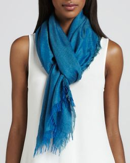 Cross Dyed Silk/Cashmere Wrap, Azure   Eileen Fisher