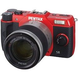 Pentax Q10 12.4MP with 02 zoom lens kit (Red) Lens Included