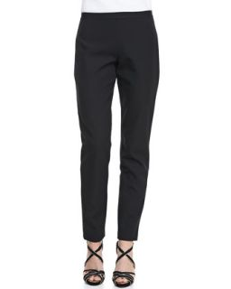 Womens Natalie Straight Leg Twill Pants   T Tahari   Black (6)